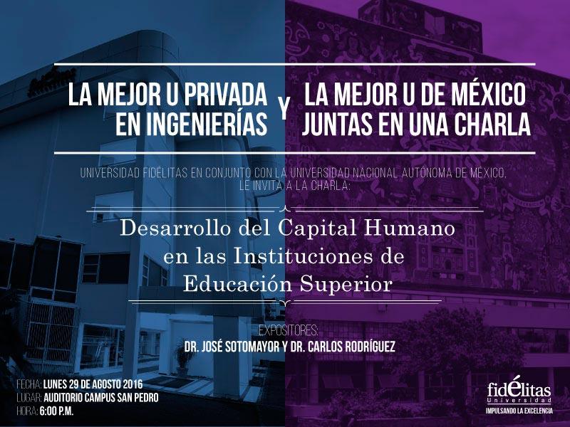 Charla:Desarrollo del Capital Humano en la Instituciones de Educación Superior