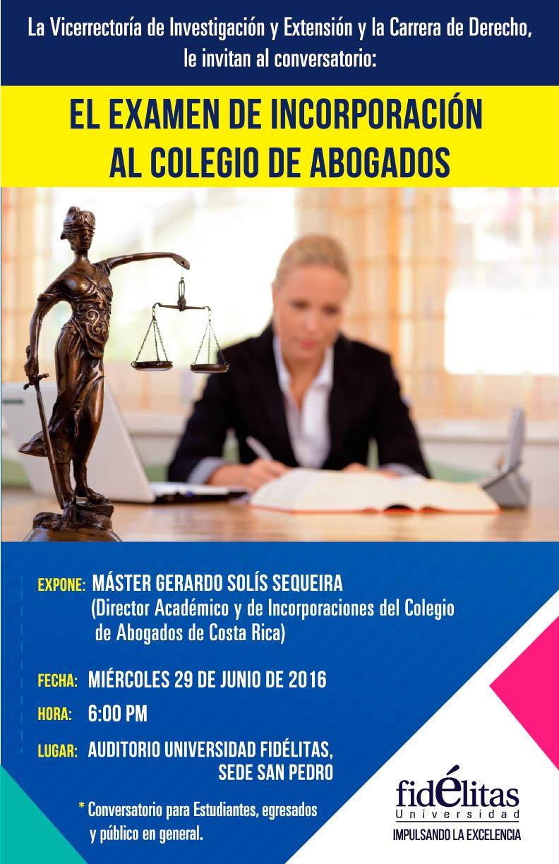 """Conversatorio:""""El Examen de Incorporación al Colegio de Abogados"""""""